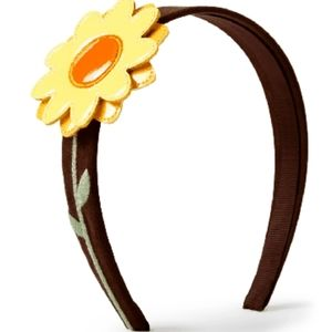 Girls Applique Sunflower Headband - Harvest